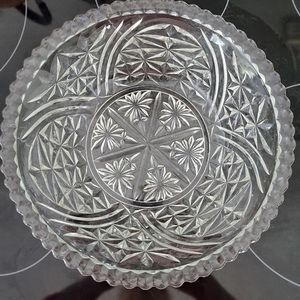 Anchor Hocking Star Of David Clear Pressed Bowl
